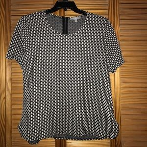 NY Collection Short Sleeve Black Top